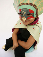 bird mask cape set