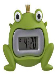 streamline green frog clock